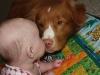 Max puppy kisses